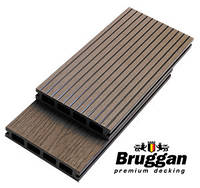 Террасная доска Bruggan (Бельгия), GRAY, COFFE, CEDAR, MOGANO, 2200х125х23 мм