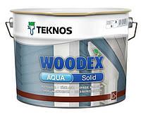 Краска антисептическая TEKNOS WOODEX AQUA SOLID для деревянных фасадов транспарентная (база 3) 9л