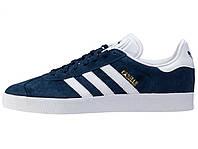 Мужские кроссовки Adidas Gazelle Dark Blue/White