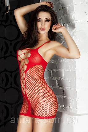 Пеньюар-сеточка 0908 красный, фото 2