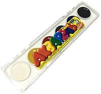 Акварельные краски (6 цветов) для детского творчества, в пластике