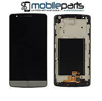 Оригинальный Дисплей (Модуль) + Сенсор (Тачскрин) для LG D724 | D722 | D725 | D728 G3 mini (С рамкой) (Серый)