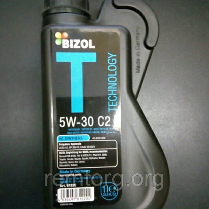 Масло моторное BIZOL Technology 5W-30 C2 1l