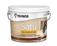 Лак влагозащитный TEKNOS SATU SAUNASUOJA для саун полуматовый 2,7л