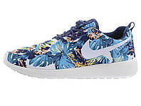 Женские кроссовки Nike Roshe Run Olympic Blue Print