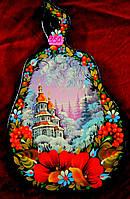 Петриковская роспись Доска разделочная сувенирная деревянная