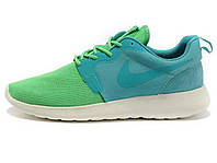 Женские кроссовки Nike Roshe Run Green/Cyan