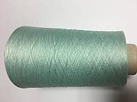 Вискоза 80% шелк 20% цвета светлой бирюзы, размер 2200 метров в 100 граммах.