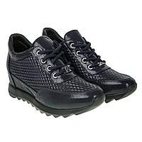 Кроссовки -сникерсы женские Alpino (синие, кожаные, стильные, удобные)