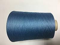 Вискоза 80% шелк 20% темно-голубого цвета, размер 2200 метров в 100 граммах.