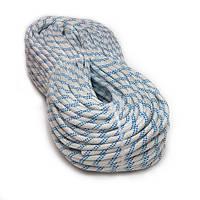 [50м] Верёвка статическая высокопрочная 8мм Sinew Hard белая