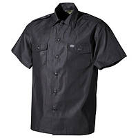 [Спец.ЦЕНА] Рубашка с коротким рукавом (M) американского типа, чёрная MFH 02712Q