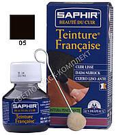Краситель для открытых типов кож Saphir Teinture Francaise, 50 мл, цв. темно-коричневый (05)