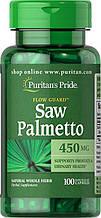 Здоровье простаты экстракт пальметто, Puritan's Pride Saw Palmetto 450 mg, 100  Capsules