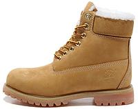 "Женские зимние ботинки Classic Timberland 6 inch ""Yellow"" Winter (Тимберленды) с мехом"
