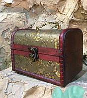 Шкатулка, сундучок декоративный (15х11х11 см.)