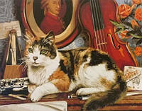 Картина по номерам BRM4137 Кот и скрипка (40 х 50 см) Brushme