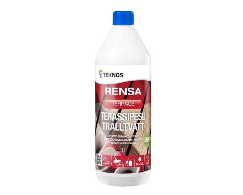 Очиститель щелочной TEKNOS RENSA TERRACE для террас и садовой мебели 1л