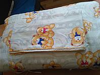 """Комплект постельного белья """"Балу"""" в кроватку (поликоттон; 4 элемента: бортики, одеяло, подушка, простынь) ТМ Хомфорт"""