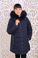 Модная зимняя  куртка для девочки Сабрина джинс