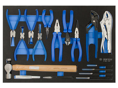 17PC.PLIERS&PUNCH&HAMMER SET