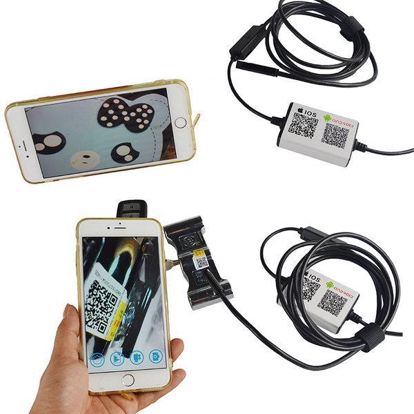 Влагостойкий WiFi беспроводной Эндоскоп видеоскоп с камерой HD 720p длина кабеля 2м поддержка Android и IOS