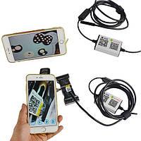 Влагостойкий WiFi беспроводной Эндоскоп видеоскоп с камерой HD 720p длина кабеля 2м поддержка Android и IOS, фото 1