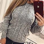 """Женский красивый свитер """"Косичка"""" (4 цвета), фото 2"""