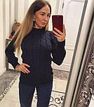 """Женский красивый свитер """"Косичка"""" (4 цвета), фото 3"""