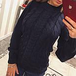 """Женский красивый свитер """"Косичка"""" (4 цвета), фото 4"""