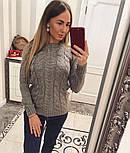 """Женский красивый свитер """"Косичка"""" (4 цвета), фото 5"""