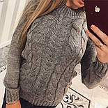 """Женский красивый свитер """"Косичка"""" (4 цвета), фото 6"""