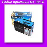 Радио приемник RX-081-S,Радио с фонариком LED