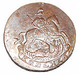 Россия копейка 1789г. медь копия , фото 2
