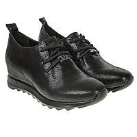 Кроссовки -сникерсы женские Alpino (черного цвета, модные, оригинальные, кожаные)