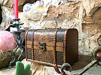 Шкатулка, сундучок декоративный (16х13х14 см.)