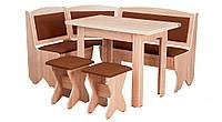 Кухонный уголок с нераскладным столом Император  (Пехотин) 1500х1100х850мм