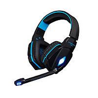 Игровые наушники Kotion Each G4000 с микрофоном и подсветкой Blue