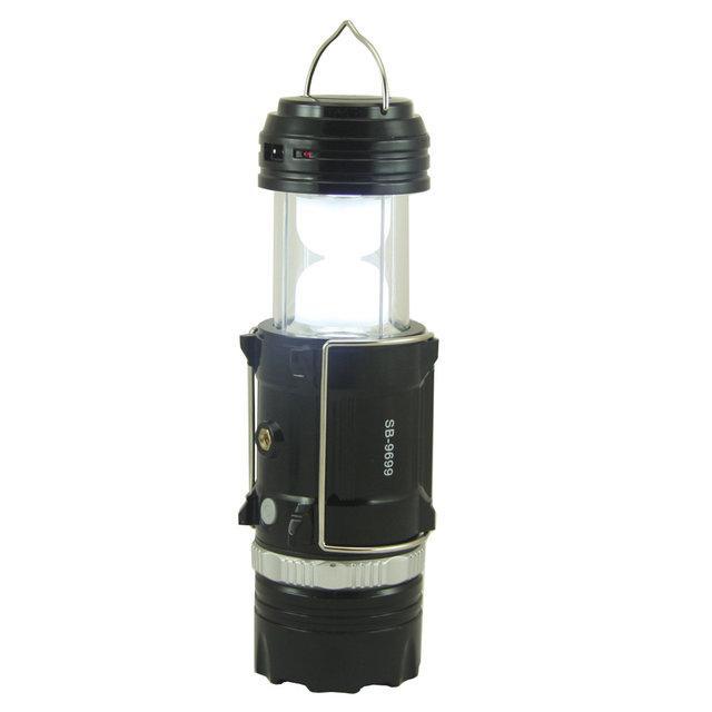 Кемпинговая LED лампа SB-9699 фонарик с солнечной панелью