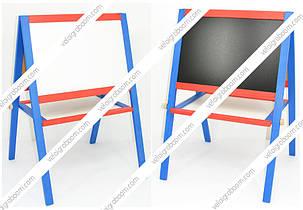 Мольберт детский деревянный большой магнитный 3 в 1, фото 2