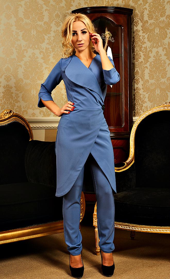 e64f02795d9 Купить Оригинальный женский костюм с удлиненным пиджаком 578326468 ...