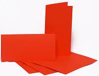 Заготовка для открытки Красная, 10,5х21 см Горизонтальное
