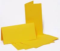 Заготовка для открытки Желтая, 10,5х21 см Вертикальное
