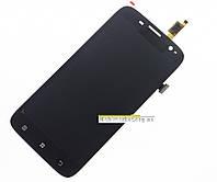 Модуль (сенсор + дисплей LCD) Lenovo A859 з рамкою original чорний
