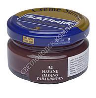 Увлажняющий крем для обуви Saphir Creme Surfine, цв. табак (34), 50 мл
