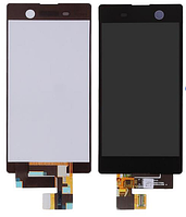 Дисплей (экран) для Sony E5603 Xperia M5 Dual Sim Сони E5606, E5633 + тачскрин, цвет черный, оригинал