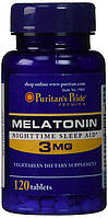 Мелатонин гормон сна Puritan's Pride Melatonin 3 mg 120 Tablets
