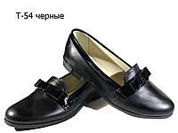 Туфли женские комфорт натуральная кожа черные (Т-54), фото 1