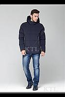 Теплая зимняя мужская куртка прямого силуэта