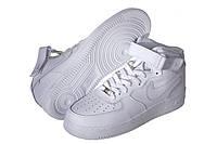 Кроссовки мужские Nike Air Force белые (найк), фото 1